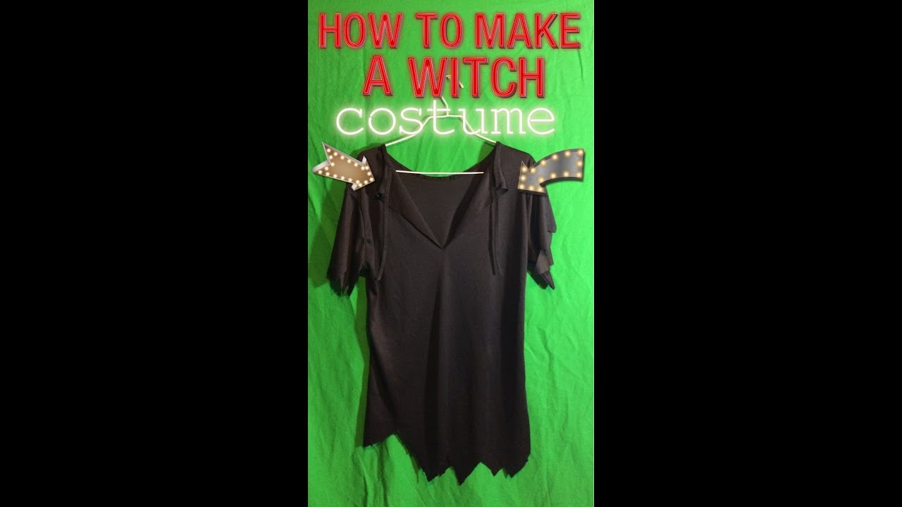 How To Make A Witch costume - YouTube