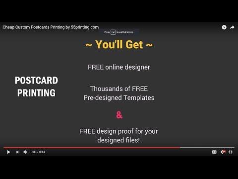 Free custom made postcards