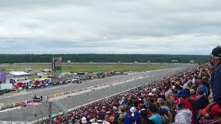Crowd reaction of Robert Wickens' massive crash at Pocono Raceway