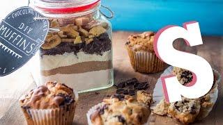 Chocolate, Banana & Fudge Muffins... In A Jar Recipe!