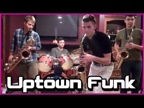 Uptown Funk  |  Alto, Tenor, and Bari Sax Cover (Plus Nick)