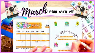 PLAN WITH ME || March 2020 Bullet Journal Setup