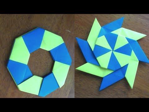Tutorial: Origami- Rehilete / Estrella Magica que se transforma