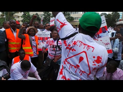 Streets turn red as Civil Society protest murder of lawyer, 2 others