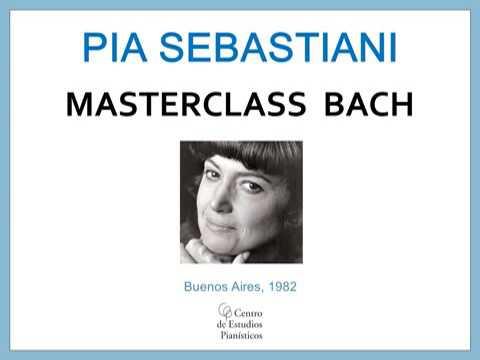 Clase magistral Pía Sebastiani / Bach