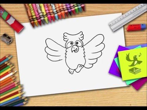 Hoe teken je een uil? Zelf een uiltje leren tekenen