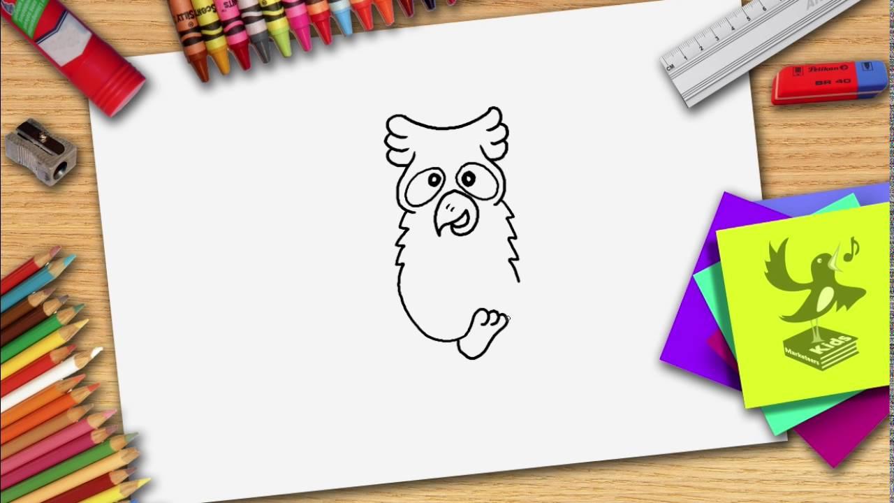 Hoe Teken Je Een Uil Zelf Een Uiltje Leren Tekenen Youtube