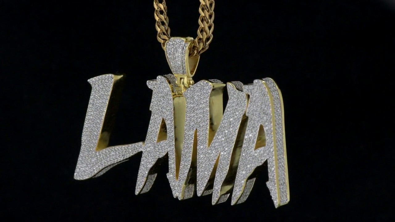 Mr chris designed lama initials yellow gold bust down diamonds mr chris designed lama initials yellow gold bust down diamonds custom pendant mozeypictures Image collections