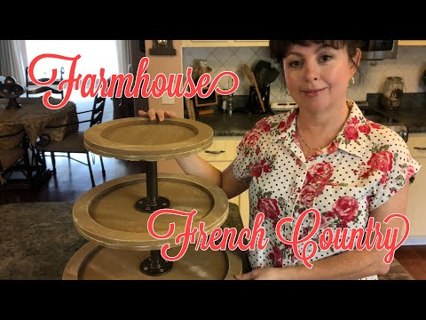 Farmhouse | Tuscan | French Country 3 Tier Tray Lazy Susan Diy 2019