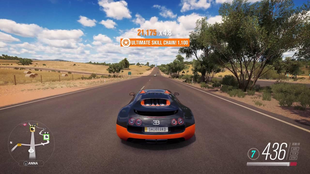 Nice Forza Horizon 3   Bugatti Veyron Super Sport TOP SPEED 437 KM/H (FASTEST CAR ?)