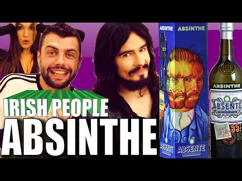Irish People Taste Test ABSINTHE For The First Time!!  110% Proof