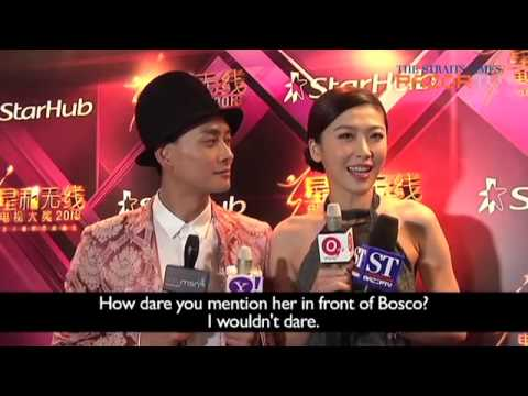 Are Ex-lovers Myolie Wu And Bosco Wong Back On Talking Terms? (StarHub TVB Awards 2013 Pt 2)