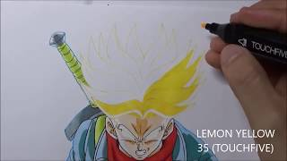 Como dibujar a TRUNKS Super Saiyan Rage | How to draw TRUNKS form DRAGON BALL SUPER | DibujAme Un