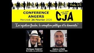 Conférence Les injustices fiscales, la corruption politique et la démocratie  Angers #3 - 26/02/2020