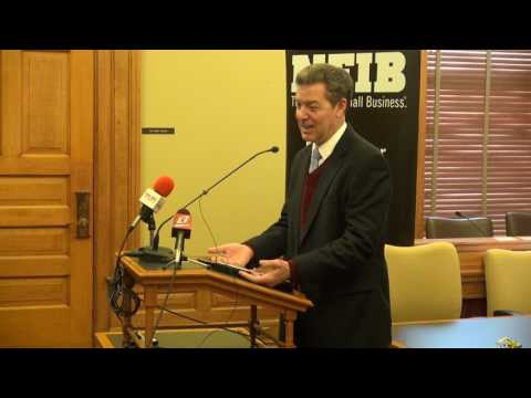 Gov. Brownback Tells NFIB Members to Speak Out On Small Business Tax Increases