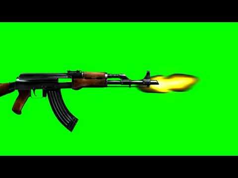 Gun emoji green effect