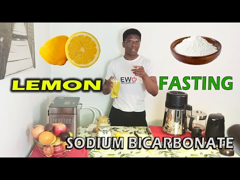 WATER WITH LEMON AND BAKING SODA