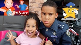 Police Kid Johny Johny Yes Papa with Baby Sister | FamousTubeKIDS
