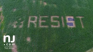 'RESIST' message to women carved in corn field near Trump National Golf Course