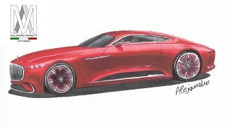 Mercedes-Benz Maybach Vision 6-Time Lapse drawing