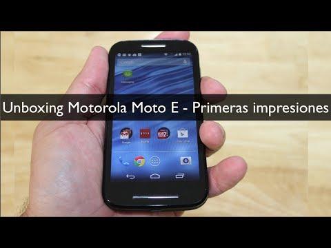 Unboxing Motorola Moto E Primeras Impresiones