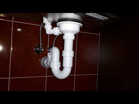 kitchen sink hook up drain