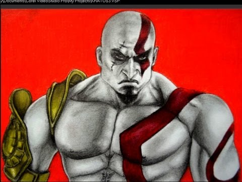 CÓMO DIBUJAR A KRATOS DE GOD OF WAR Videos De Viajes