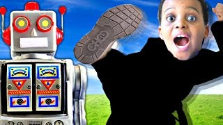 Bad Baby SCARY ROBOT vs Shiloh And Shasha - Twin Robots GONE WRONG! - Onyx Kids