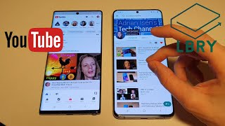 LBRY vs. YouTube App, Decentralized vs. Centralized Platform Android Samsung Galaxy Look