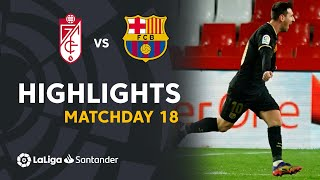 Highlights Granada CF vs FC Barcelona (0-4)