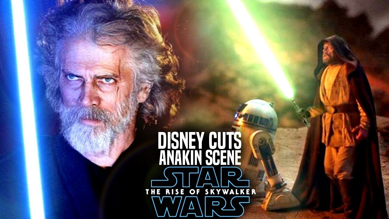 Disney Cuts Hayden Christensen Scene From The Rise Of Skywalker Star Wars Episode 9 Youtube