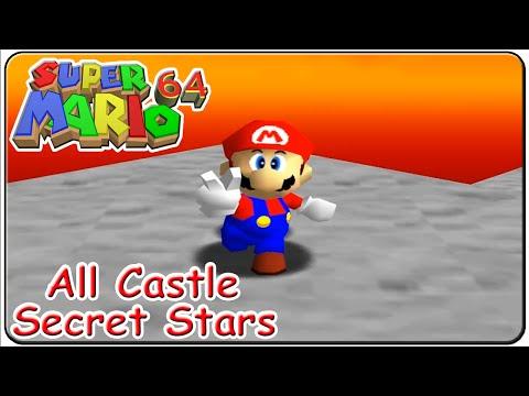 Super Mario 64 All 15 Castle Secret Stars