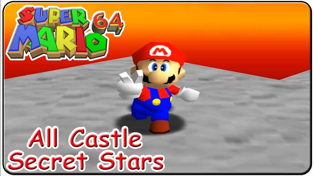 Super Mario 64 All 15 Castle Secret Stars