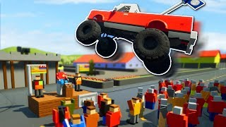 JUMPS & STUNTS IN THE CITY! - Brick Rigs Multiplayer Gameplay - Ramps, Jumps & Stunts!