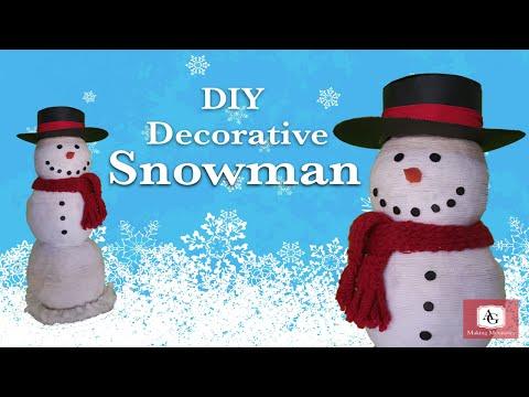 DIY Decorative Snowman