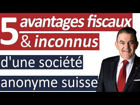 5 avantages fiscaux inconnus d'une société anonyme AG suisse