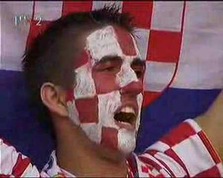 Croatian Anthem sung before Croatia - Brasil match