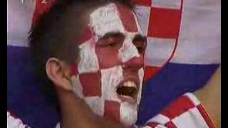 Croatian Anthem sung before Croatia - Brasil match