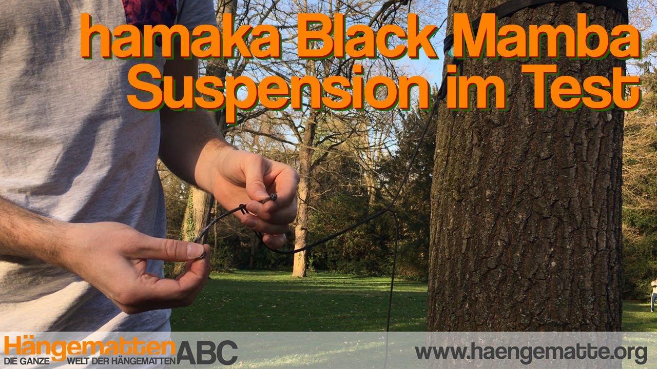 hamaka black mamba h ngematten aufh ngung im test youtube. Black Bedroom Furniture Sets. Home Design Ideas