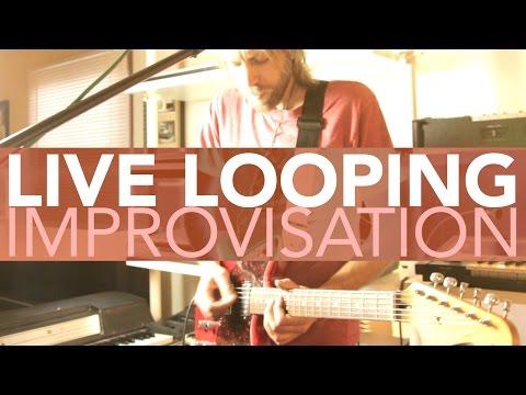 Live Looping Improvisation - State Shirt - At the Playground