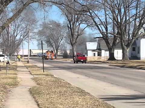 house fire response in valley Nebraska 3/16/2015