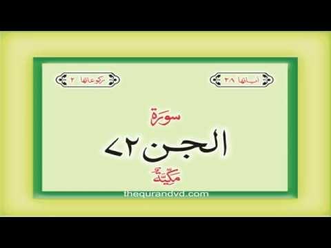 72. Surah Al Jinn with audio Urdu Hindi translation Qari Syed Sadaqat Ali
