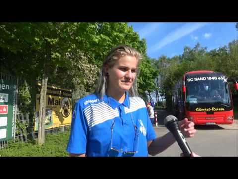 20170430 Interview with Rahel Kiwic after the match between MSV Duisburg and SC Sand played in the A