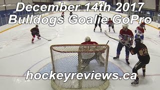 December 14th 2017 Bulldogs Hockey Goalie GoPro, I score on myself!