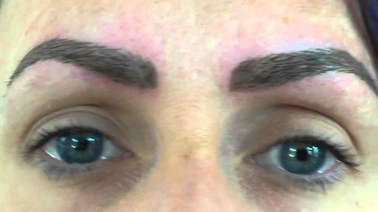 Dermagrafix Healed Hair Stroke Eyebrow Tattoo - YouTube