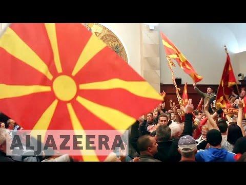 Macedonia nationalists violently storm parliament