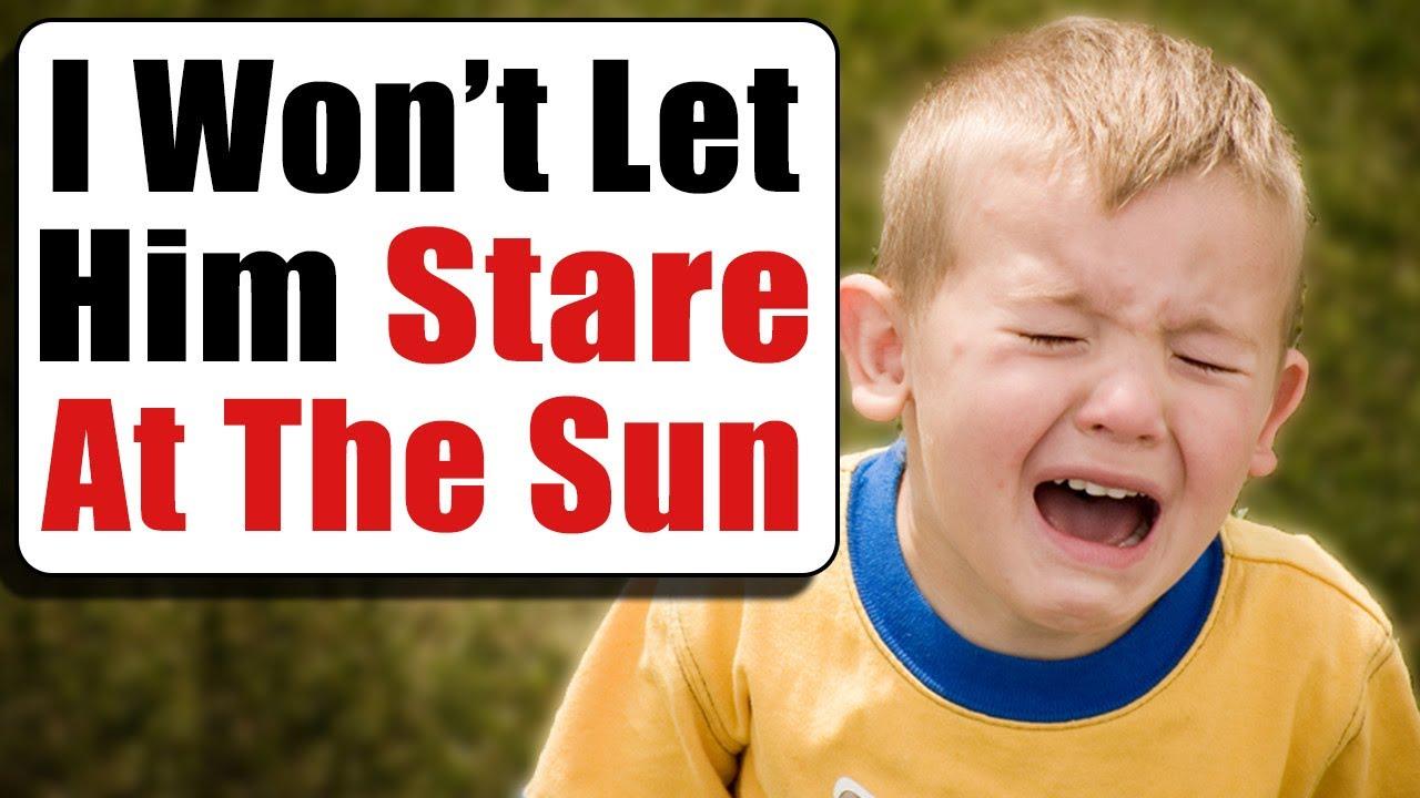 r/KidsAreStupid | Staring At The Sun