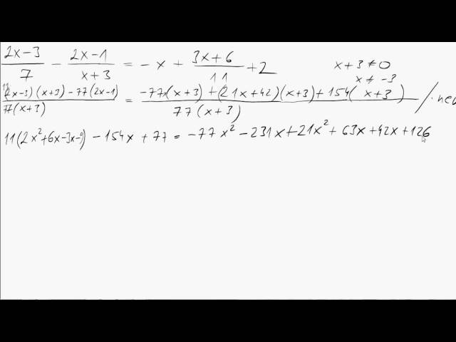 10. o. A másodfokú egyenlet 06 (Törtes másodfokú egyenlet)