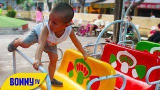 Outdoor Playground Fun for Children l Family Children's Amusement Play Center Fun l BonnyTV