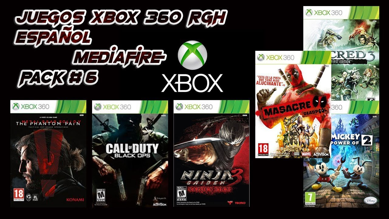 Juegos Xbox 360 Rgh Espanol Mediafire Pack 6 Youtube